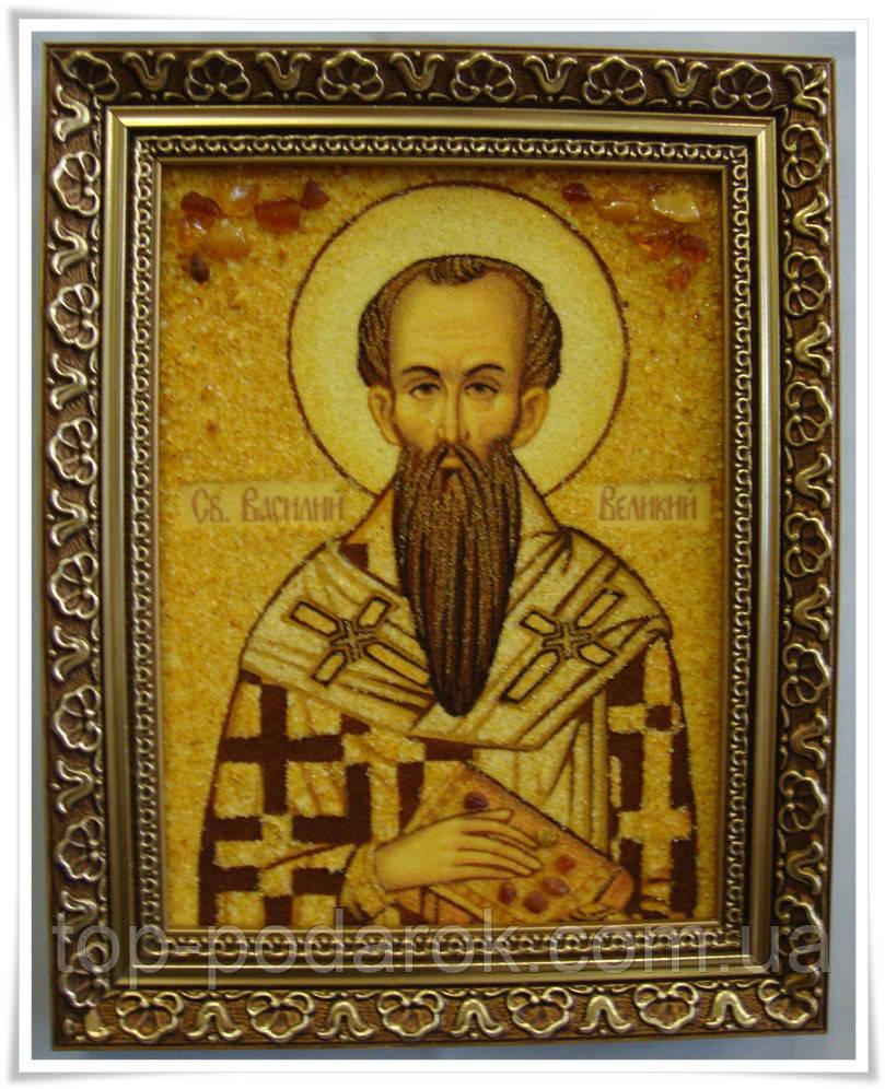 Ікона з янтаря іменна Василь ii-22