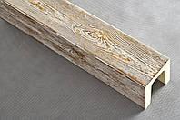 Балка декоративная полиуретановая Decostar, модерн, патина коричневая, сечение 12х12см, длина 2м; 3м; 4м, фото 1