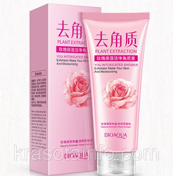Пилинг-скатка роза Пилинг для лица Bioaqua гоммажный гель