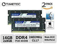 Память Timetec Hynix IC Apple 16GB Kit (2x8GB) DDR4 2400MHz PC4-19200 SODIMM для ноутбука, фото 1