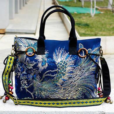 Женская сумка c текстиля
