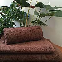 Махровое полотенце 50Х90 Шоколадное 500