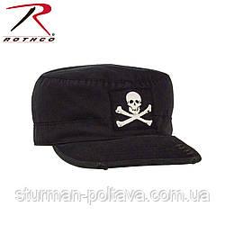 Кепка  мужская  винтажная   черная  Ultra Force™ Vintage Fatigue Cap - Black  Jolly Roger размер XL -  59-60