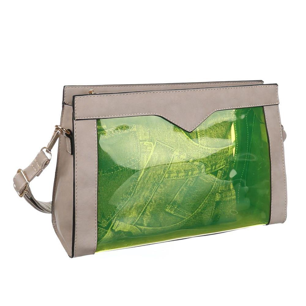 Прозрачная сумка с экокожей (Европа) Серый