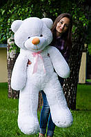 Белый плюшевый мишка 140 см, фото 1