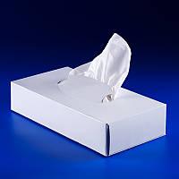 Салфетка косметическая 20х20 см, 2-х слойная белая, в коробке, Eco Point, 75 шт/уп