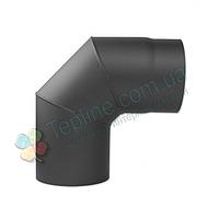 Колено 90° для дымохода d 180 мм; 2 мм из чёрного металла «Версия Люкс»