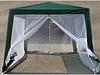Шатер-павильон садовый 3х3 метра со стенами из москитной сетки тент из полипропилена, фото 5