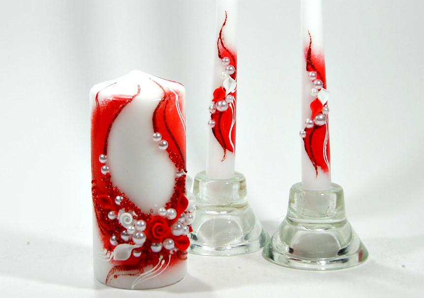 Набор свадебных свечей Bispol 3 шт (С-908)