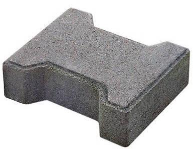 """Тротуарная плитка """"Двойное Т"""" 60 мм серый, сухопрессованная, фото 2"""