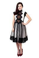 Коротка дизайнерська вишита сукня ручної роботи, фото 1