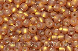 Бисер 17090/1 матт (33129) Preсiosa (Чехия) коричневый блестящий матовый 25г
