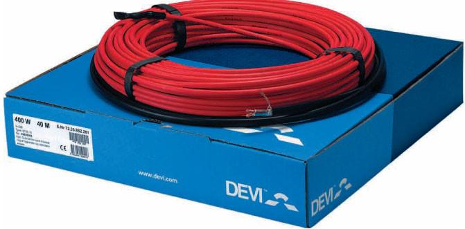 Нагревательный кабель DEVIcomfort 10T, мощность 200Вт, 20 м.п. (1,2/1,5 м.кв.)