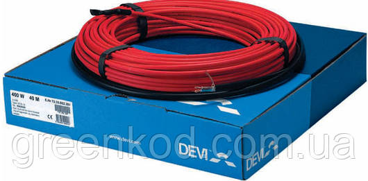 Нагревательный кабель DEVIcomfort 10T, мощность 1700В, (10,2/12,8 м.кв.)