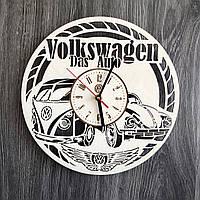 Стильные часы из дерева настенные «Volkswagen», фото 1