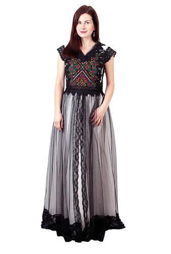 Довга дизайнерська вишита сукня ручної роботи  продажа 8cb8b30b66a02