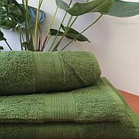 Махровое полотенце 70Х140 Оливковое 500