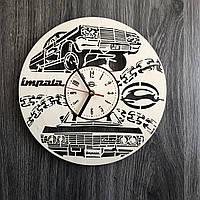 Стильные часы из дерева настенные «Chevrolet Impala», фото 1