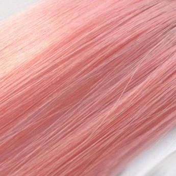 Прядь искусственных цветных волос на заколке 55 см чайная роза