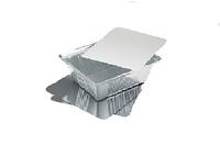 Комплект ланчбокс и крышка (SP24L) из пищевой алюминиевой фольги, 430мл, 25шт/уп