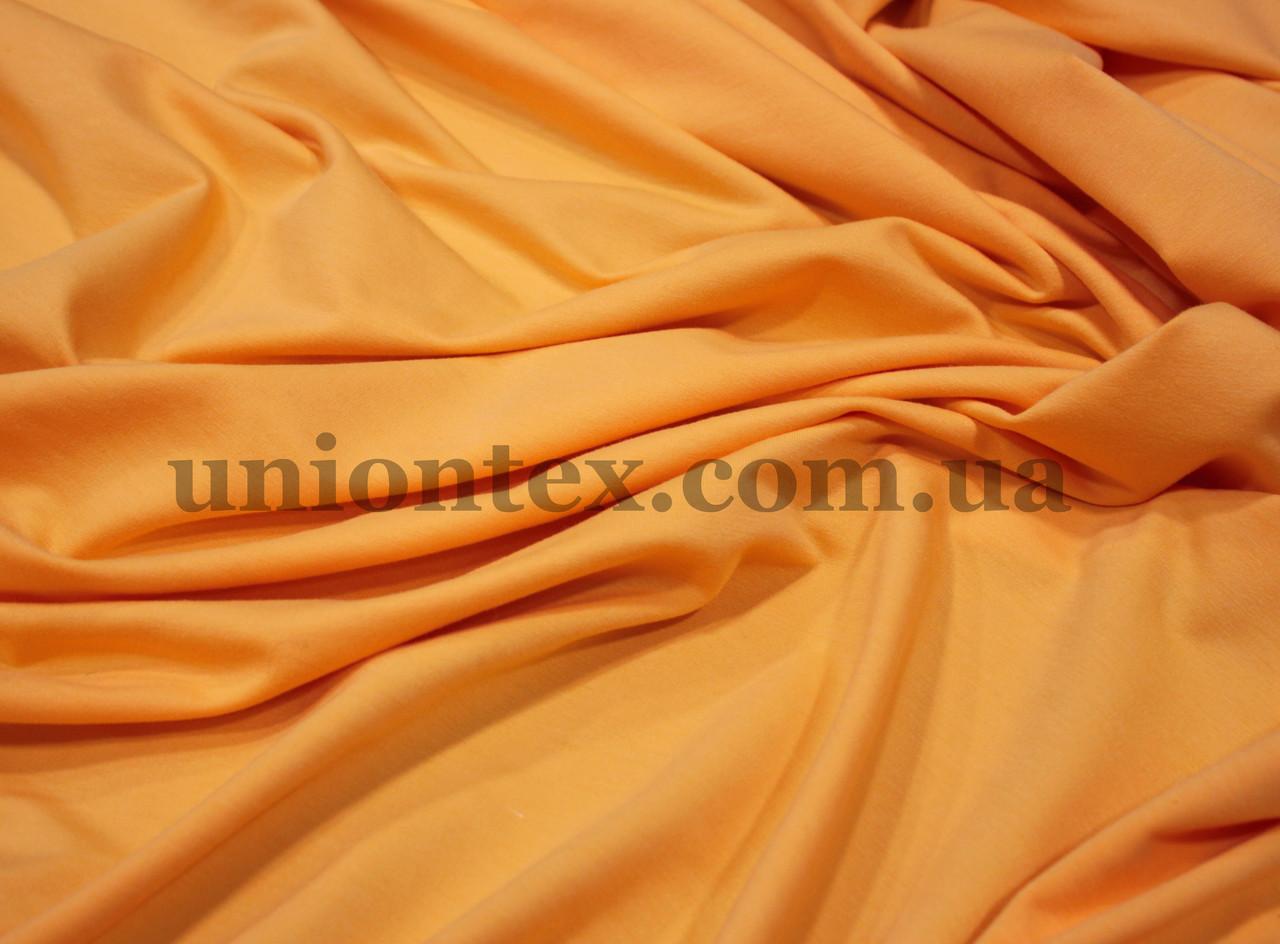 Футер двунитка (180см) оранжевая