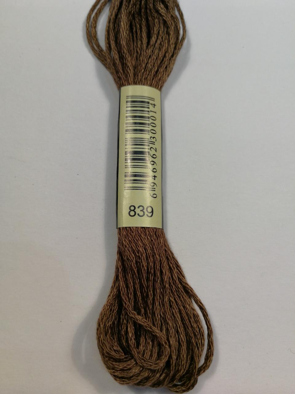Мулине СХС 839 бежево-коричневый темный