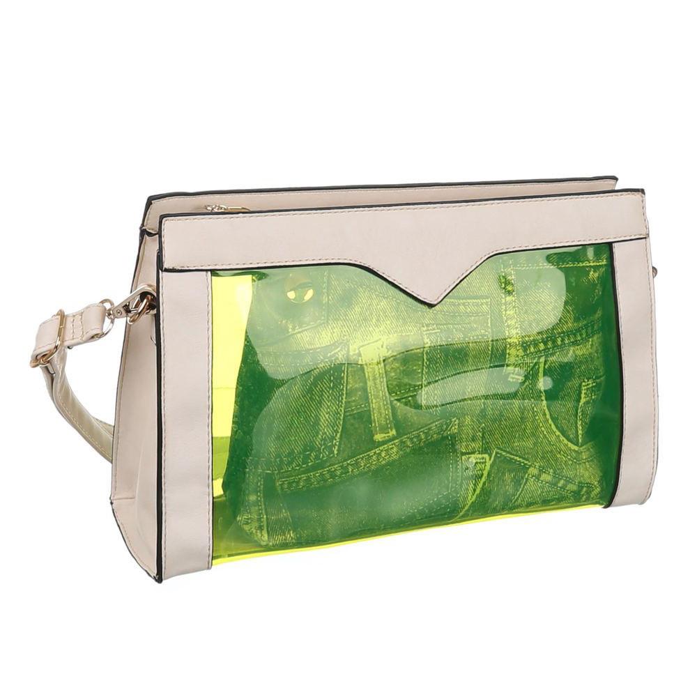 Прозрачная сумка с экокожей (Европа) Бежевый