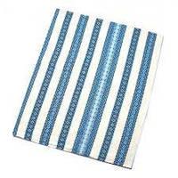 Скатерть 203-801928 1,5*1,2м белая с синей вышивкой
