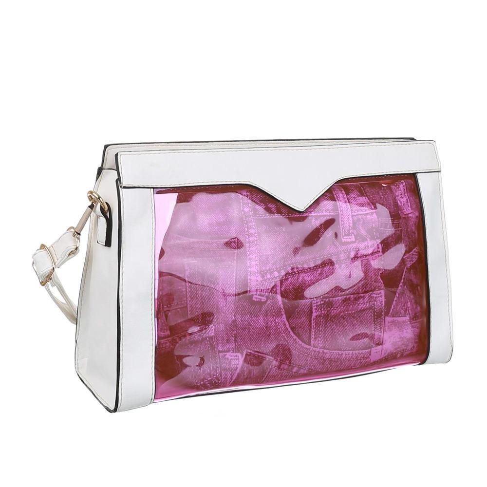 Прозрачная сумка с экокожей (Европа) Белый