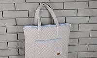 Сумка-матрас для пеленания, серо-голубая ( пеленальная сумка )