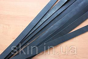 Ременные полосы со скидкой 27% из натуральной кожи черного цвета шириной 38 мм арт. СК 9022.1609, фото 2