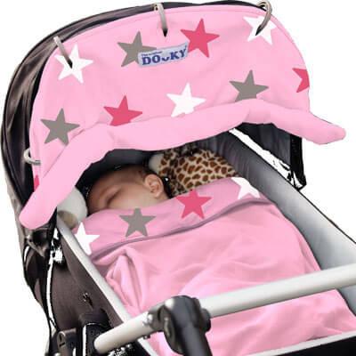 """Защитная накидка на коляску The Original Dooky """"Pink Stars"""""""