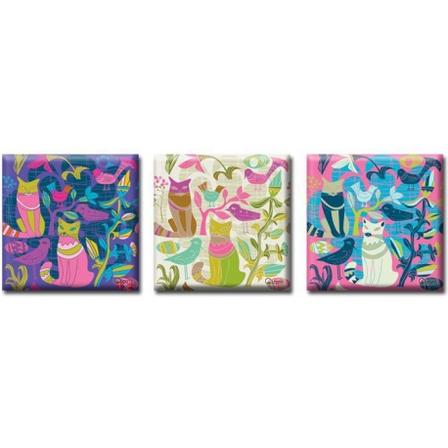 Модульная картина на холсте Триптих Cats, фото 2