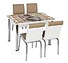 """Раскладной стол обеденный кухонный комплект стол и стулья 3D рисунок 3д """"Ваза"""" ДСП стекло 70*110 Лотос-М"""