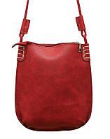 Стильная женская сумка P087 (красная)
