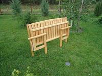 Скамья деревянная садовая раскладная