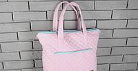 Сумка-матрас для пеленания, розово-бирюзовая ( пеленальная сумка )