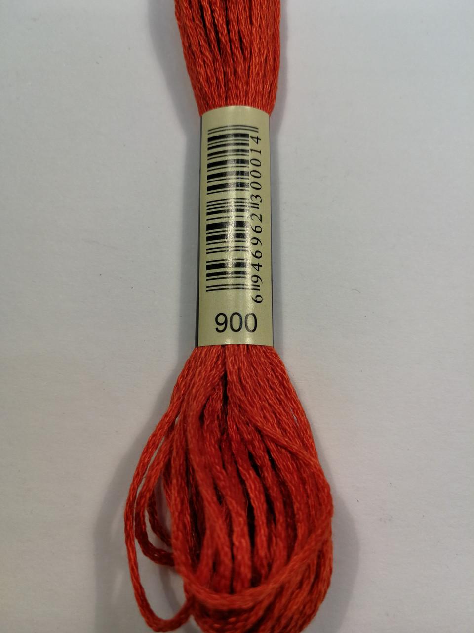 Мулине СХС 900 оранжево-жженный темный