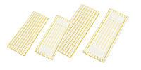 Моп плоский с карманами, для швабры, полосатый, для мытья неровных покрытий, 50 см.