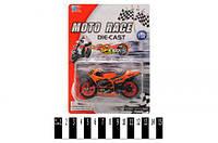 "Мотоцикл металлический ""MOTO RACE"" XY027"