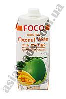 Кокосовая вода c манго Foco 500 мл