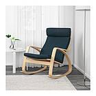 Кресло-качалка IKEA POÄNG березовый шпон Hillared гранатовый 192.010.51, фото 2