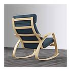 Кресло-качалка IKEA POÄNG березовый шпон Hillared гранатовый 192.010.51, фото 4