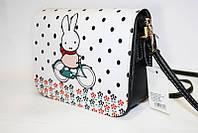 Сумка женская экокожа F1 зайка, маленькая женская сумка, сумка на лето
