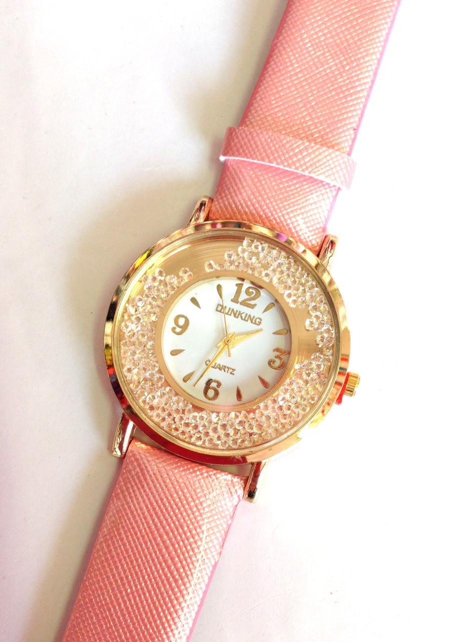 Женские часы DUNKING, кварцевые коралловые