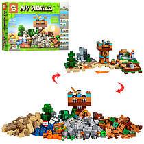 Конструктор по мотивам игры Майнкрафт(Minecraft)строение, фигурки, 792 деталей,SY969