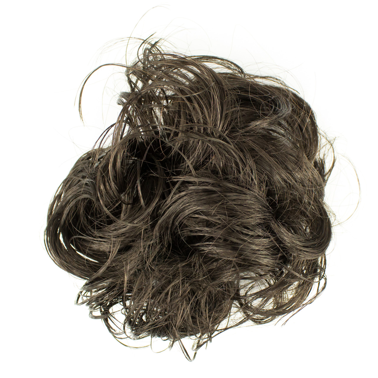 Резинка из синтетических волос брюнет