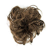 Резинка из синтетических волос шатен