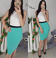 Двухцветное платье с белым верхом без рукавов 631353