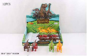 """Заводные игрушки """"Динозавры"""" (12 шт) 66002"""